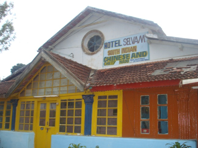 Hotel Selvam, five minutes walk from the lake
